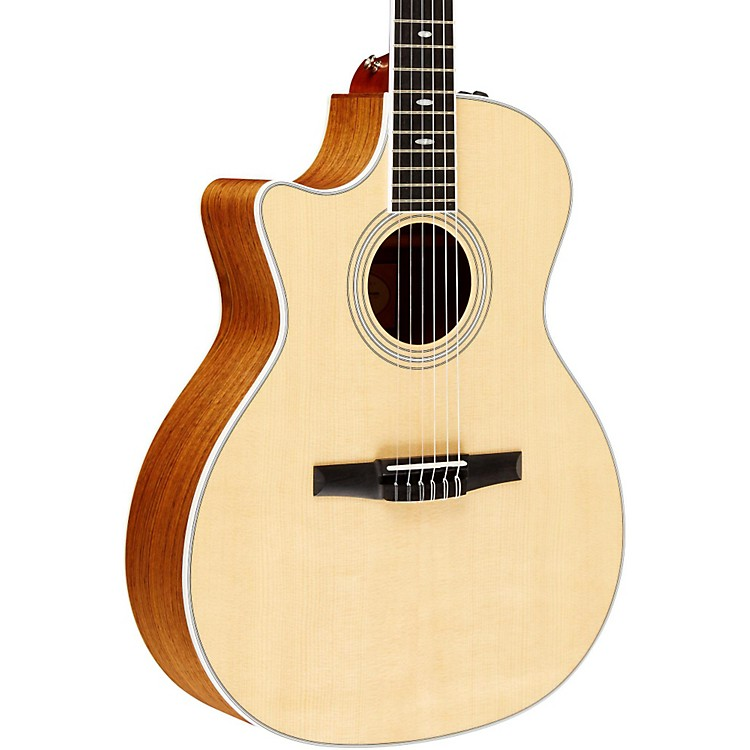 Taylor 2012 414ce-N-L Ovangkol/Spruce Nylon String Grand Auditorium Left-Handed Acoustic-Electric Guitar