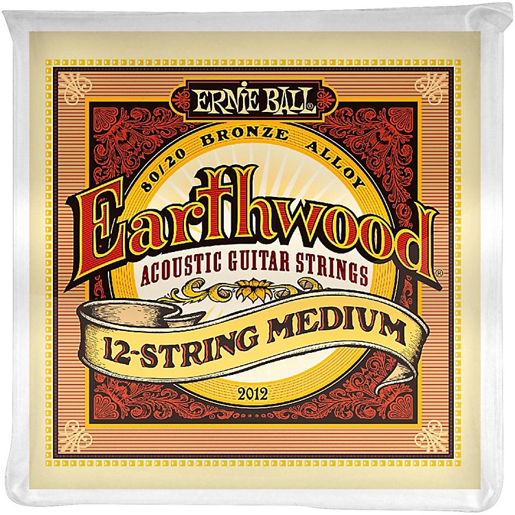 Ernie Ball2012 Earthwood 80/20 Bronze 12-String Medium Acoustic Guitar Strings