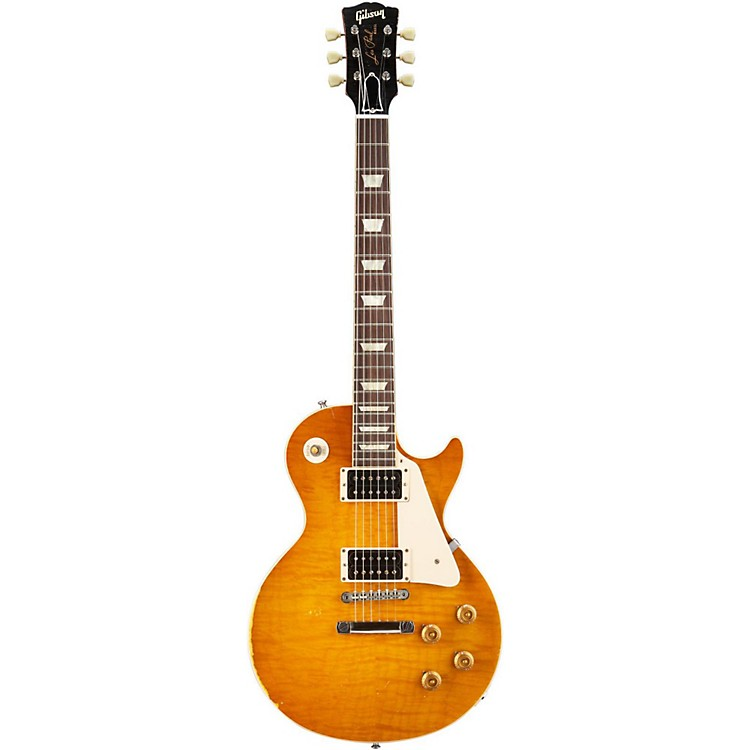 Gibson Custom2012 Les Paul Reissue 1959 Murphy Electric GuitarAged Sunburst with Brown Back