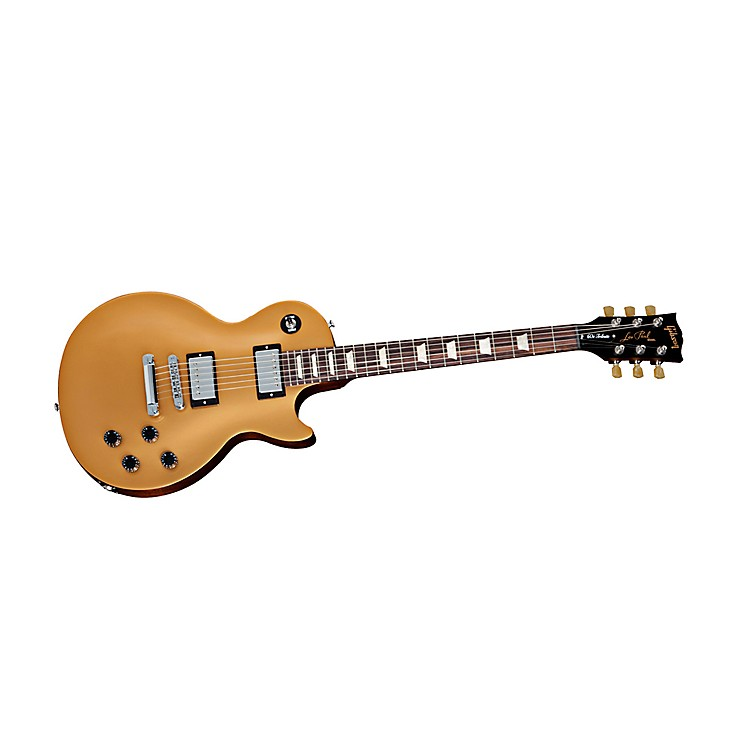 Gibson 2013 Les Paul '60s Tribute Min-ETune Electric Guitar Gold Top, Black Back