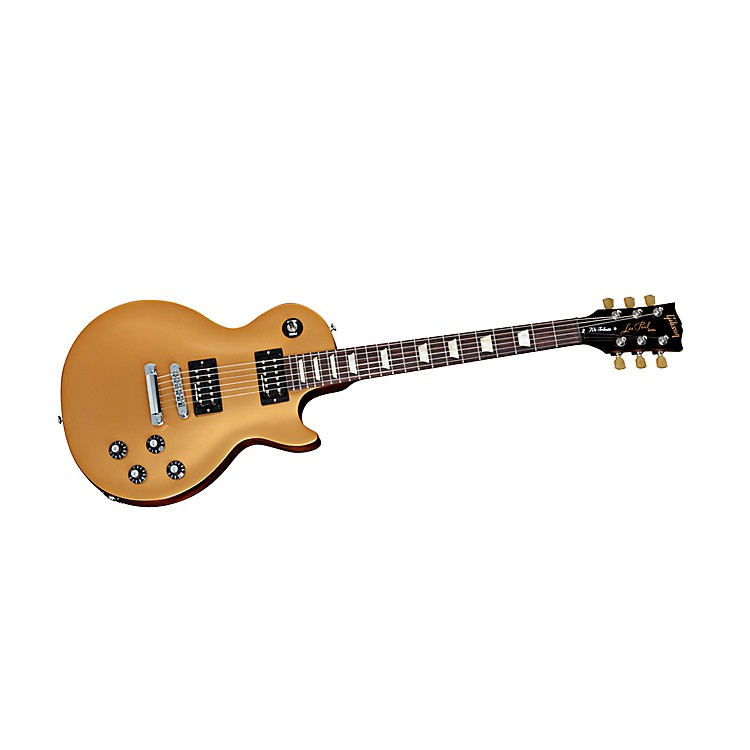Gibson 2013 Les Paul '70s Tribute Min-ETune Electric Guitar Gold Top/Black back