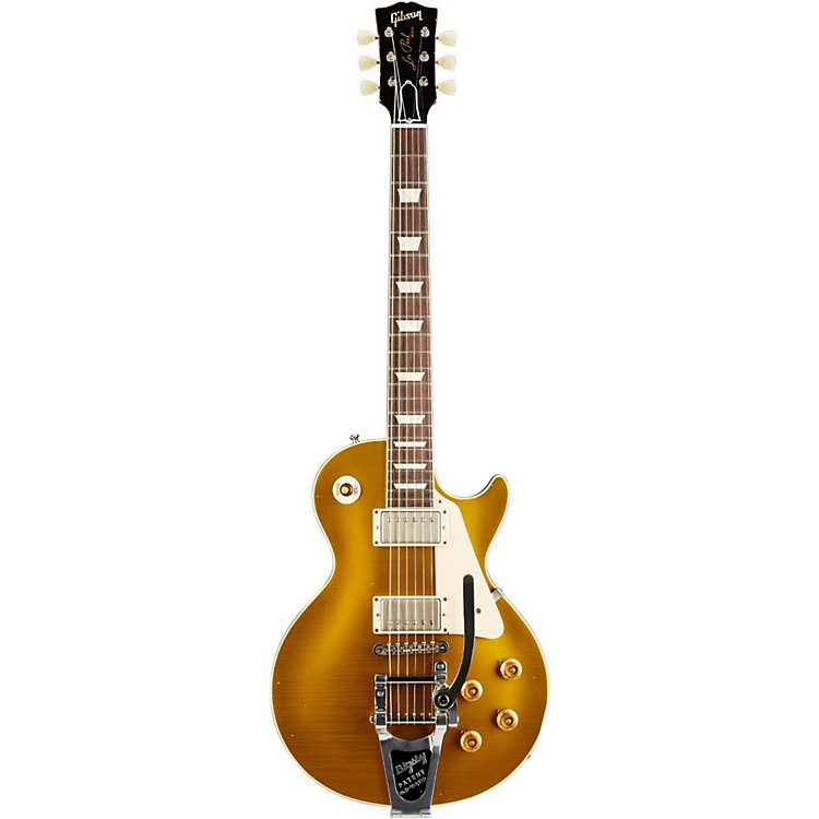 Gibson Custom2014 1957 Les Paul Reissue Lightly Aged Electric Guitar with BigsbyAntique Gold