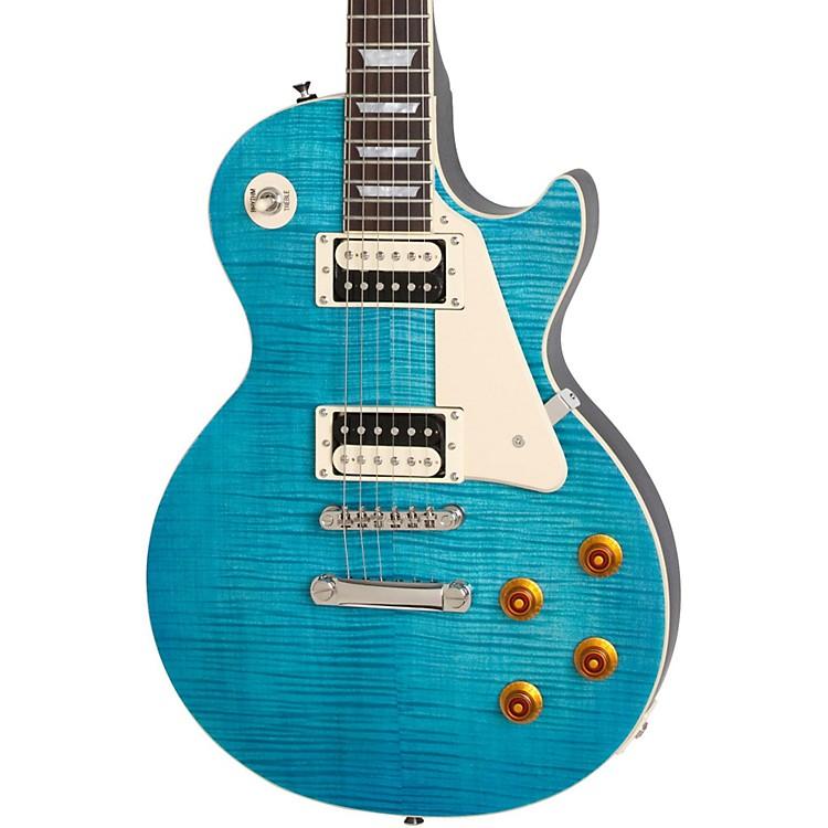 epiphone 2014 les paul traditional pro electric guitar aqua blue satin music123. Black Bedroom Furniture Sets. Home Design Ideas