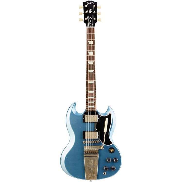 Gibson Custom2014 SG Standard Reissue with Maestro Vibrola Electric GuitarPelham Blue