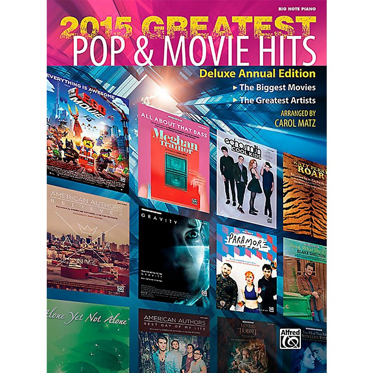 Alfred2015 Greatest Pop & Movie Hits - Big Note Piano Songbook