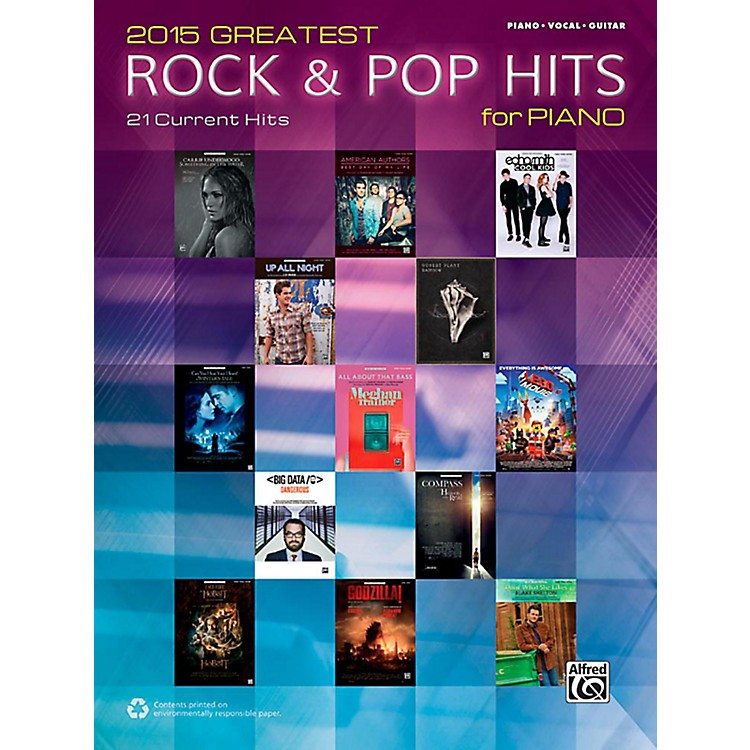 Alfred2015 Greatest Rock & Pop Hits for Piano - Piano/Vocal/Guitar Songbook