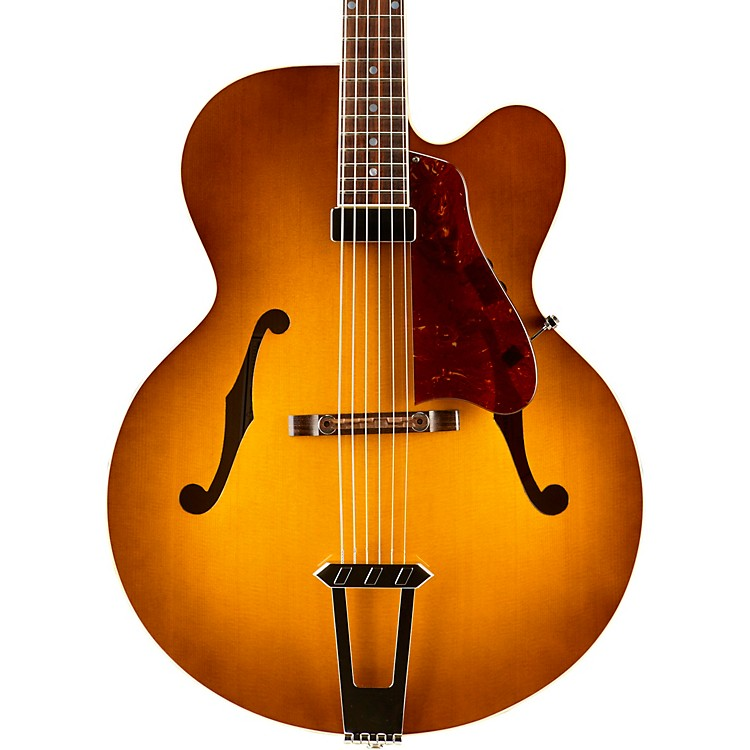 Gibson Custom2015 Solid-Formed 17 Venetian Cutaway Archtop Hollowbody Electric GuitarSunrise Tea Burst