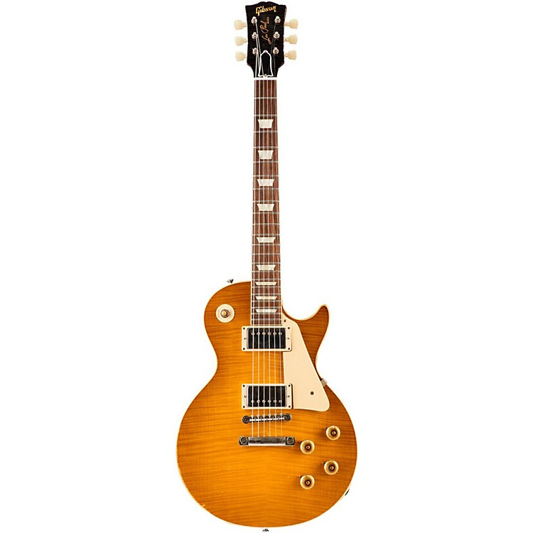 Gibson Custom2015 True Historic 1960 Les Paul Reissue Aged Electric GuitarVintage Lemon Burst
