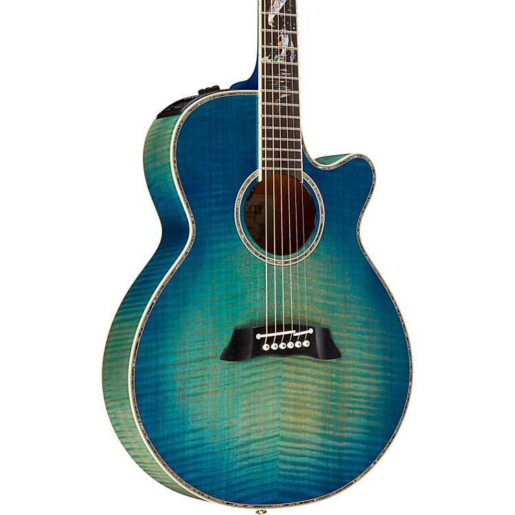 Takamine2016 Limited Edition Decoy Acoustic-Electric GuitarGreen Blue Burst