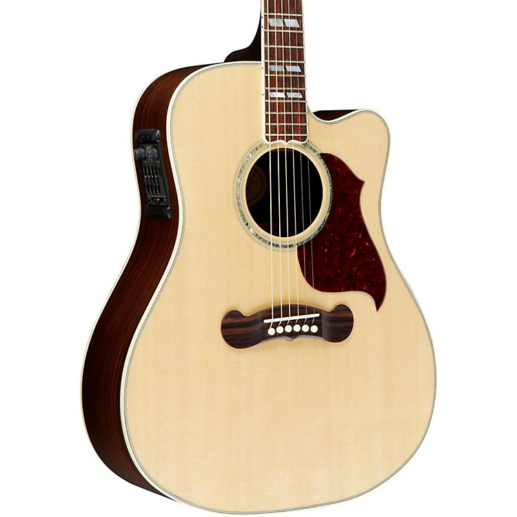 Gibson 2016 Songwriter Deluxe Studio EC Dreadnought Acoustic-Electric Guitar Antique Natural