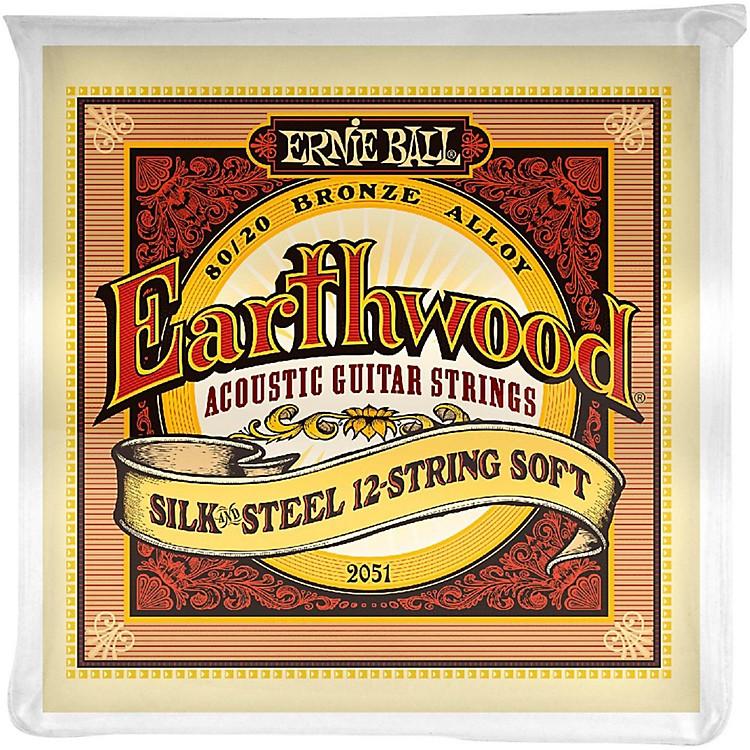 Ernie Ball2051 Earthwood 80/20 Bronze Silk and Steel 12-String Soft Acoustic Guitar Strings