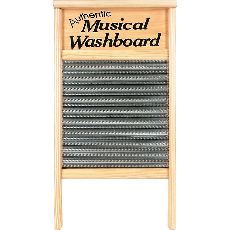 Columbus Washboard 2072-MS Authentic Musical Stainless Washboard Pine 12-7/16x23-3/4 in. 12-7/16x23-3/4