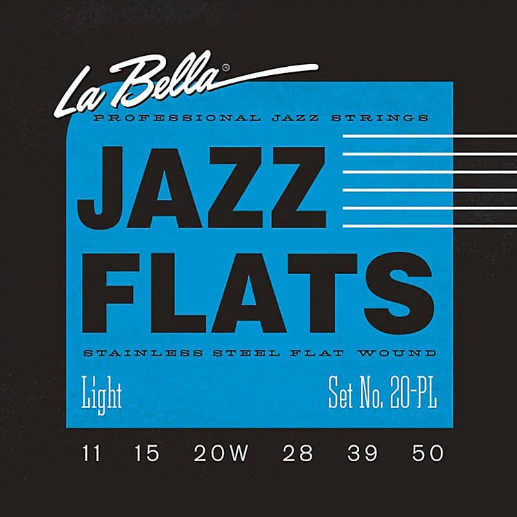 LaBella20PL Jazz Flats Stainless Steel Flat Wound Light Electric Guitar Strings