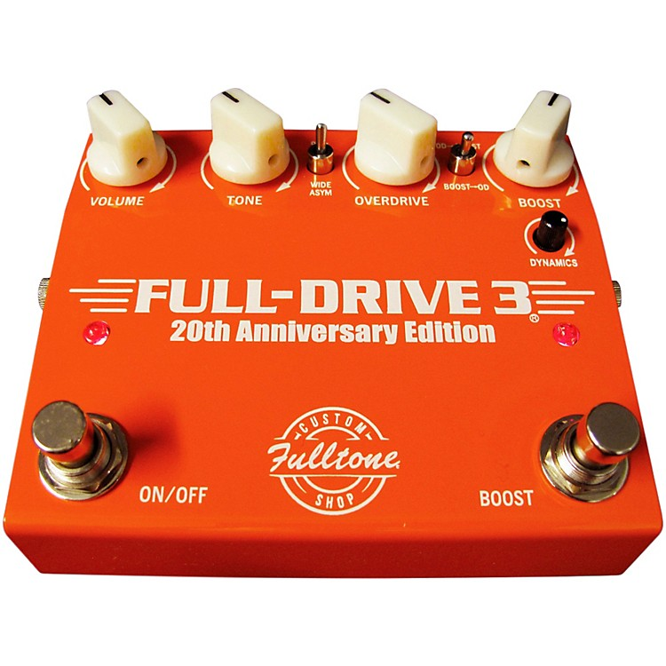 Fulltone Custom Shop 20th Anniversary Limited Edition Full Drive 3 Dual Overdrive Guitar Effects Pedal