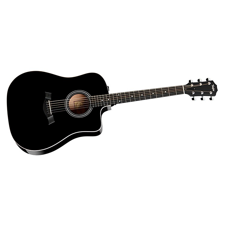 Taylor 210ce Rosewood/Spruce Dreadnought Acoustic-Electric Guitar Black
