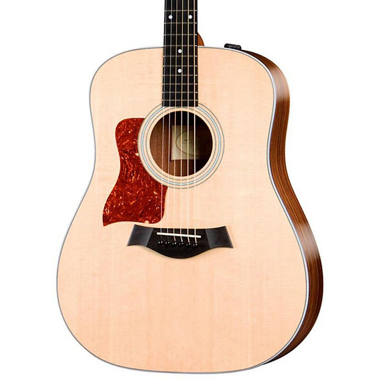Taylor 210e-L Rosewood/Spruce Dreadnought Left-Handed Acoustic-Electric Guitar Natural