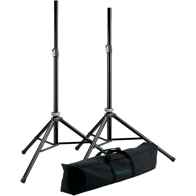K&M21449.000.55 Two Speakers Stands with Carry Bag