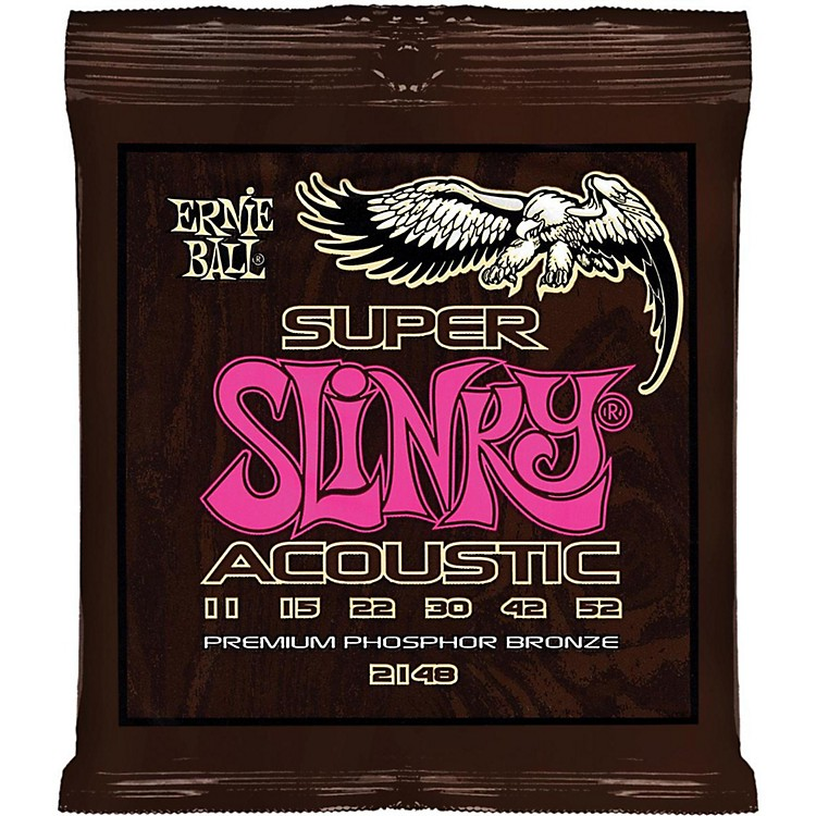 Ernie Ball 2148 Super Slinky Phosper Bronze Acoustic Guitar Strings