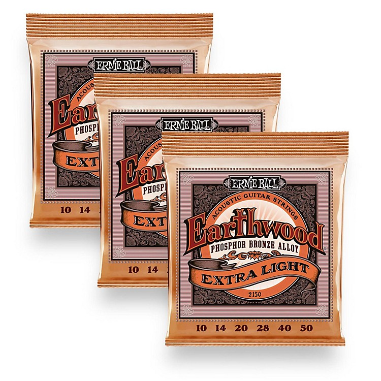 Ernie Ball 2150 Earthwood Phosphor Bronze Extra Light