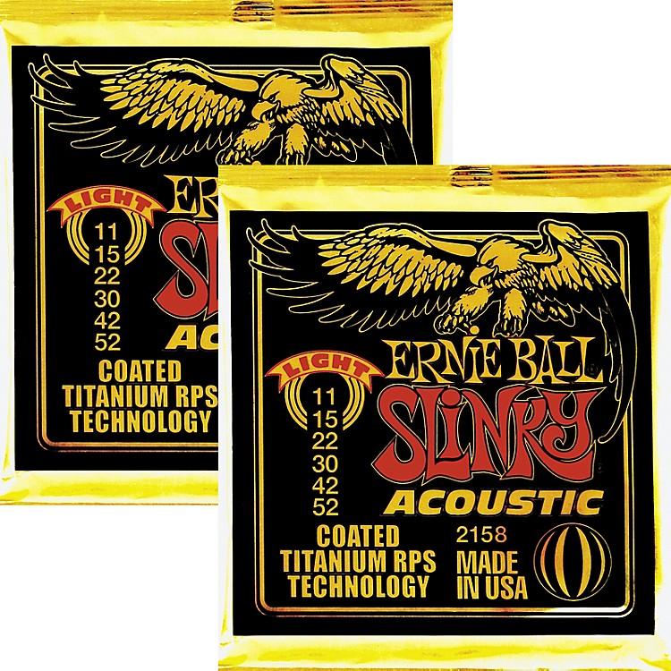 Ernie Ball2158 COATED SLNKY ACOU STRNGS LIGHT 2PK