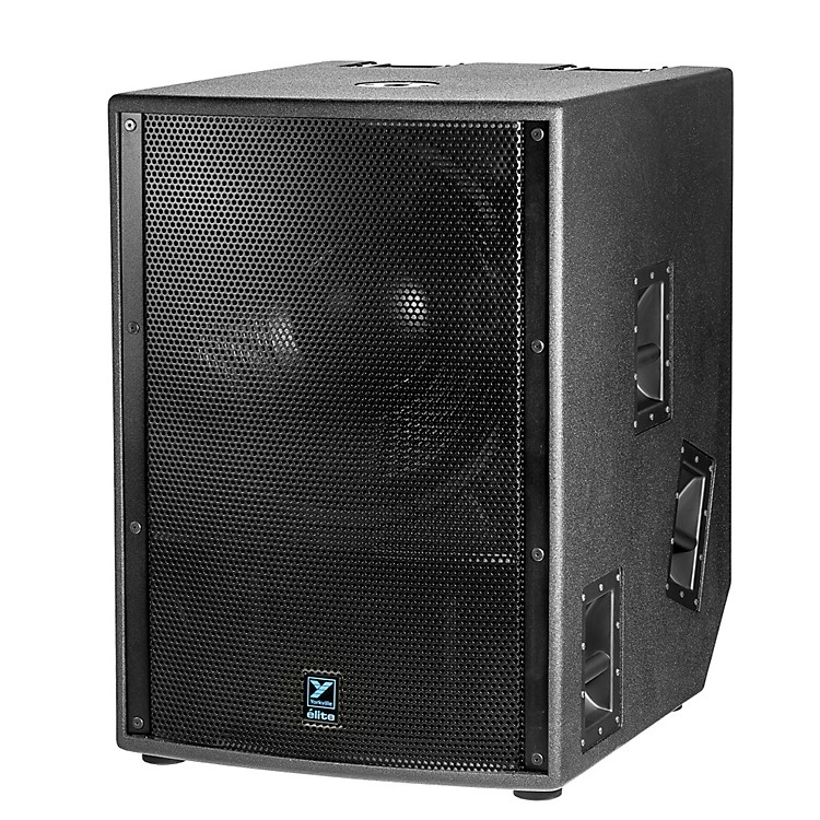 Yorkville 21in 2400W Powered Subwoofer Elite Black (Paint)