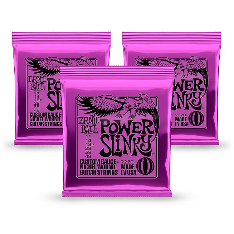 Ernie Ball2220 Power Slinky Nickel Round Wound Electric Guitar Strings 3 Pack