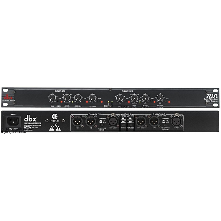 dbx223XL Stereo 2-Way/Mono 3-Way Crossover Restock