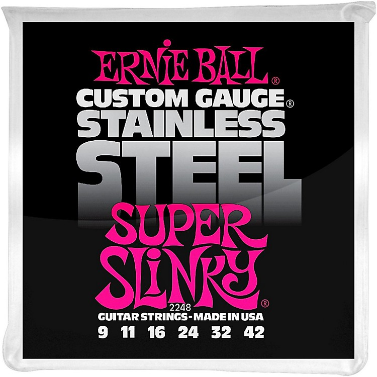 Ernie Ball2248 Super Slinky Stainless Steel Electric Guitar Strings