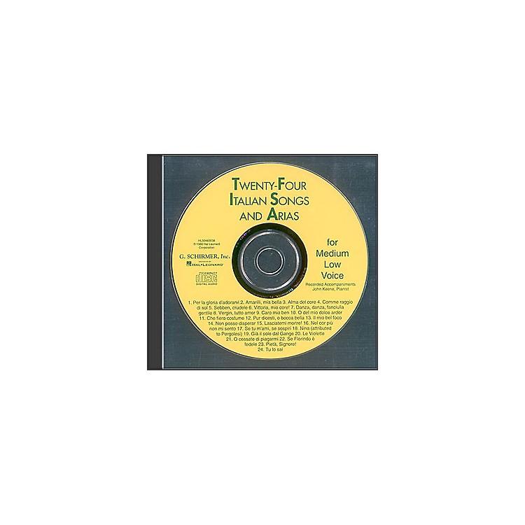 G. Schirmer24 Italian Songs And Arias for Medium Low Accompaniment CD