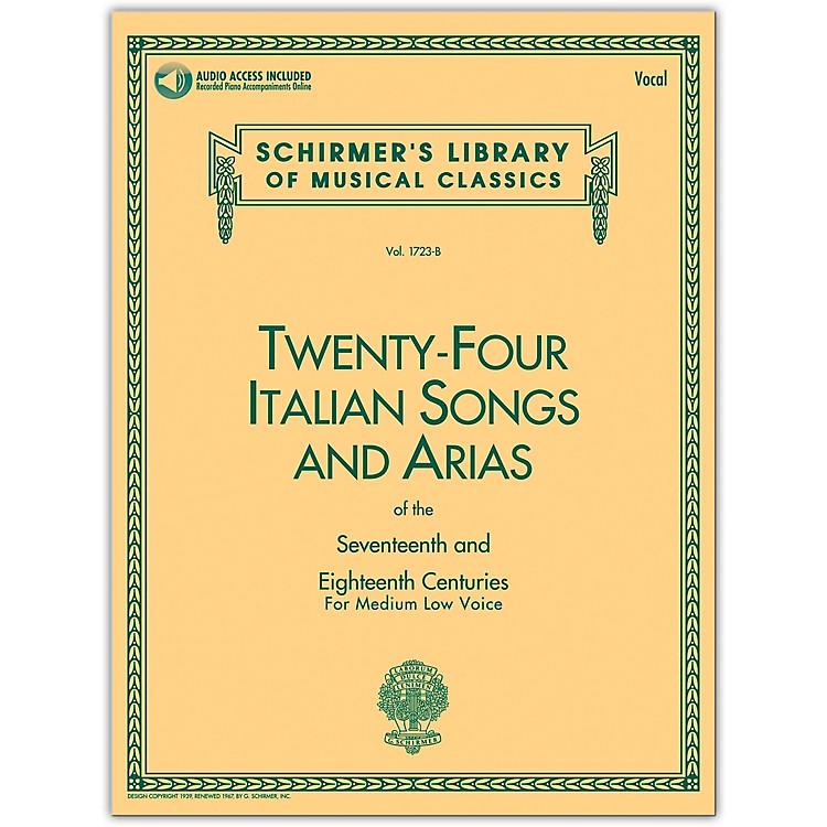 G. Schirmer24 Italian Songs & Arias Medium Low Book/Online Audio
