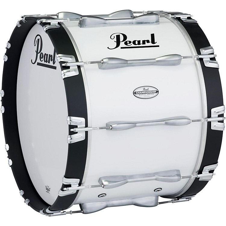 Pearl 24 x 14 in. Championship Maple Marching Bass Drum Pure White