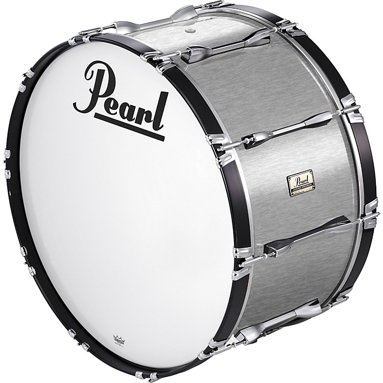 Pearl 24x14 Championship Series Marching Bass Drum Brushed Silver