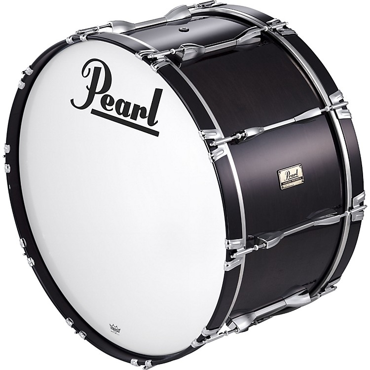 Pearl 24x14 Championship Series Marching Bass Drum Midnight Black