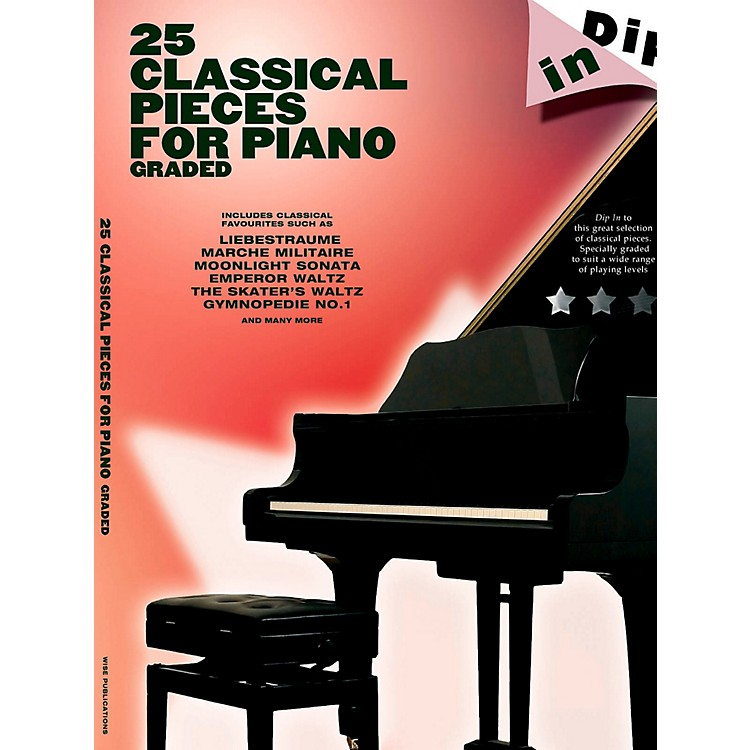 Music Sales25 Classical Pieces For Piano Graded - Dip In Series