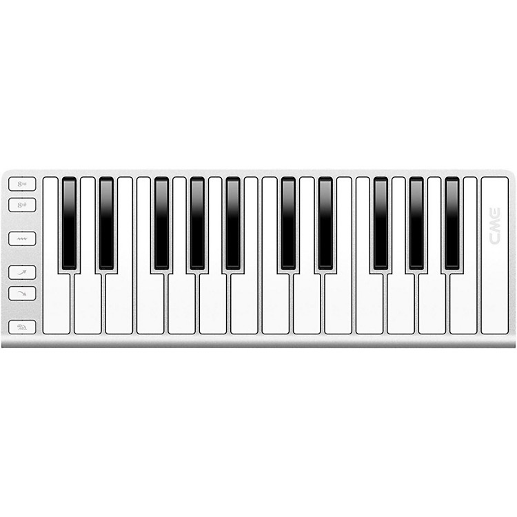 CME 25 Key Mobile Keyboard Controller Silver