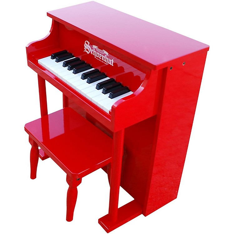 Schoenhut 25- Key Traditional Spinet Red
