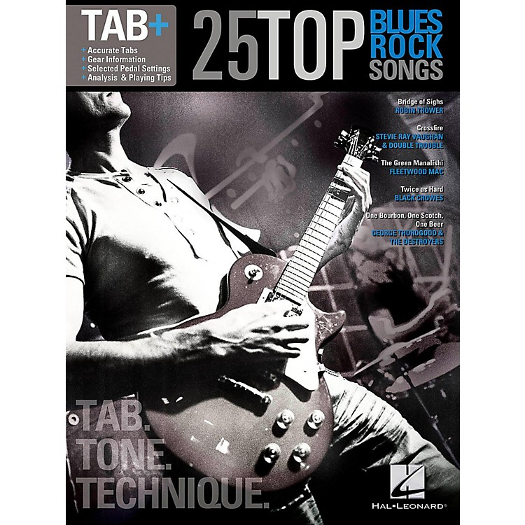 Hal Leonard25 Top Blues/Rock Songs - Tab Tone & Technique (Tab+)