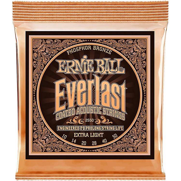 Ernie Ball2550 Everlast Phosphor Extra Light Acoustic Guitar Strings