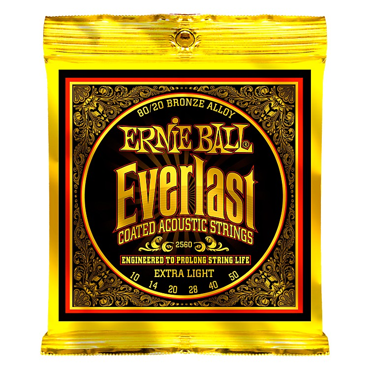Ernie Ball 2560 Everlast 80/20 Bronze Extra Light Acoustic Guitar Strings
