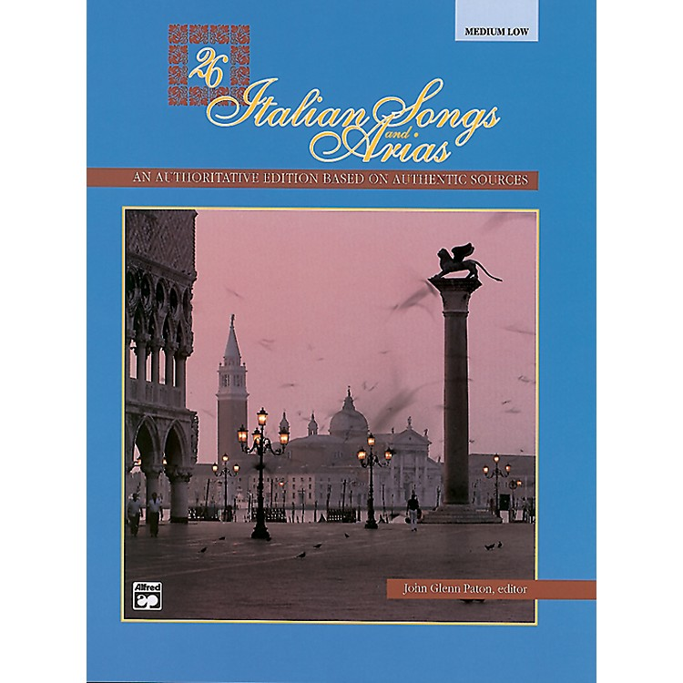 Alfred26 Italian Songs and Arias Book & CD (Medium Low)