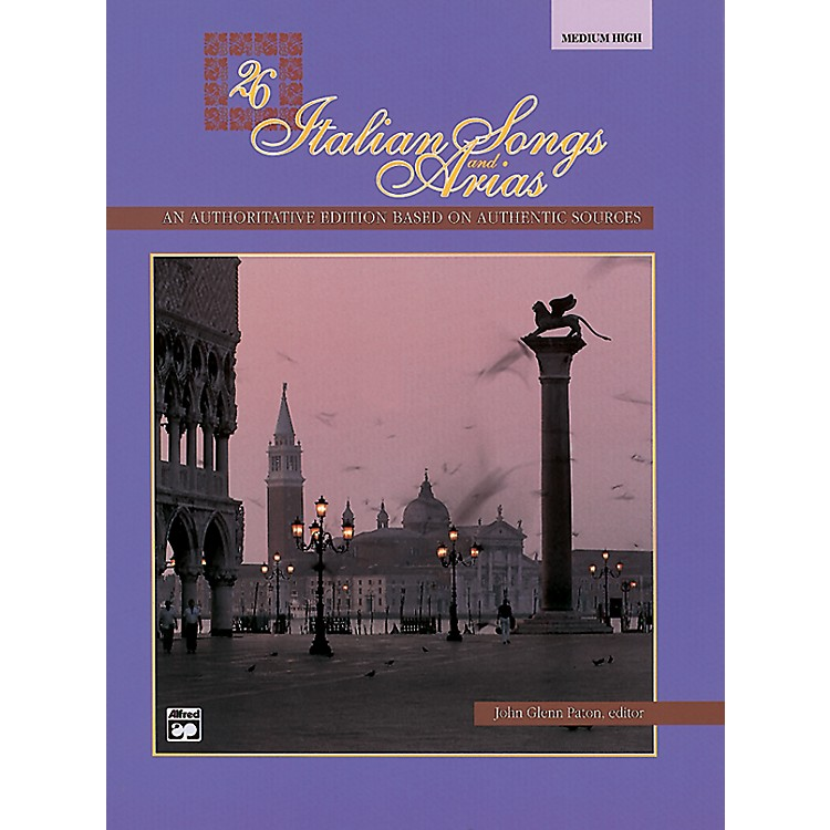 Alfred 26 Italian Songs and Arias Book (Medium High)
