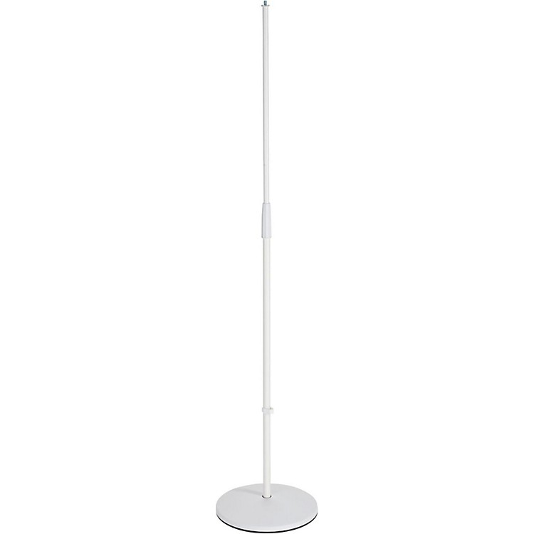 K&M26010.500.76 White Round Base Microphone Stand
