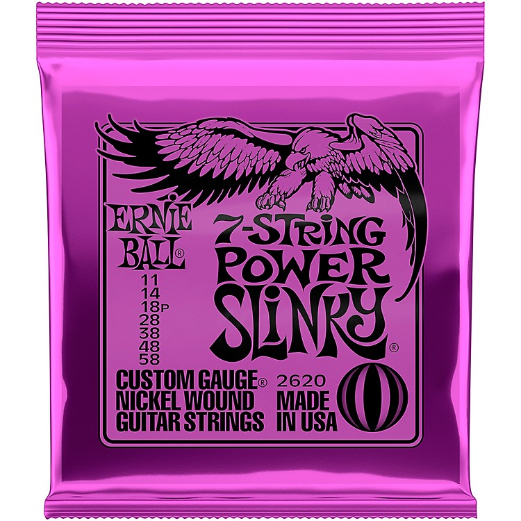 Ernie Ball2620 Nickel 7-String Power Slinky Electric Guitar Strings