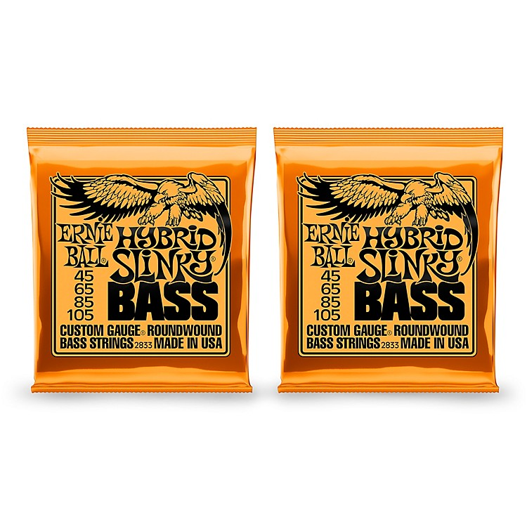 Ernie Ball 2833 Hybrid Slinky Round Wound Bass Strings 2 Pack
