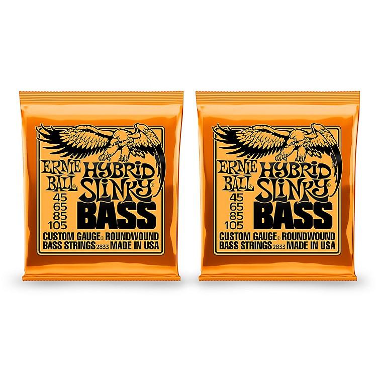 Ernie Ball2833 Hybrid Slinky Round Wound Bass Strings 2 Pack