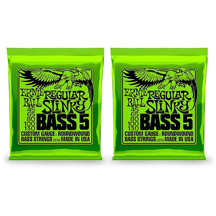 Ernie Ball2836 Regular Slinky 5-String Bass Strings 2 Pack