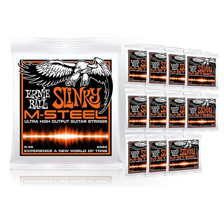 Ernie Ball2922 M-Steel Hybrid Slinky Electric Guitar Strings - Buy 10, Get 2 FREE