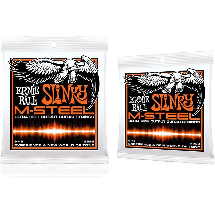Ernie Ball2922 M-Steel Hybrid Slinky Electric Guitar Strings 2-Pack