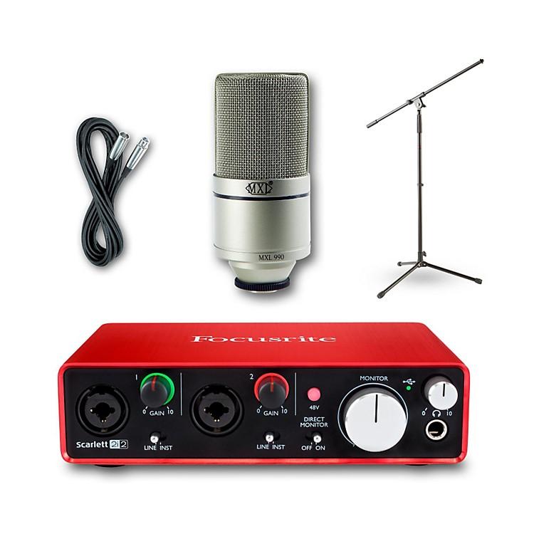 Focusrite2i2 Recording Bundle with MXL 990 Mic