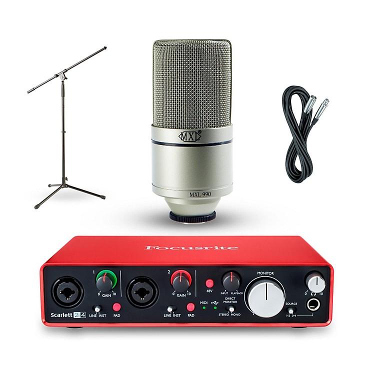 Focusrite2i4 Recording Bundle with MXL 990 Mic